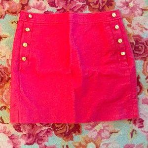 JCrew Sailor Mini Skirt